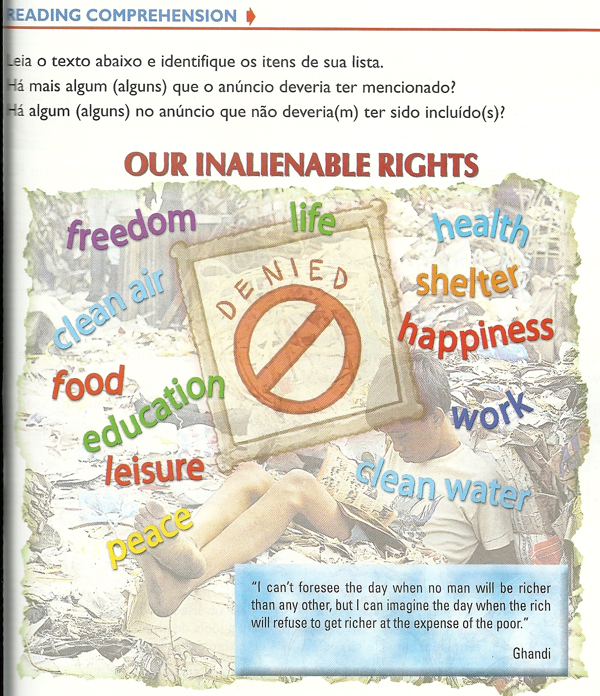 our inalienable rights These rights have been justly considered and frequently declared by the people of this country to be natural, inherent, and inalienable, and it may be stated as a legal axiom [a principle that is not disputed a maxim] that since the great laboring masses of our country have little or no property but their labor, and the free right to employ it .