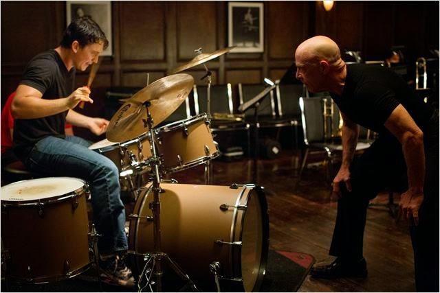 Miles Teller y J.K. Simmons en Whiplash