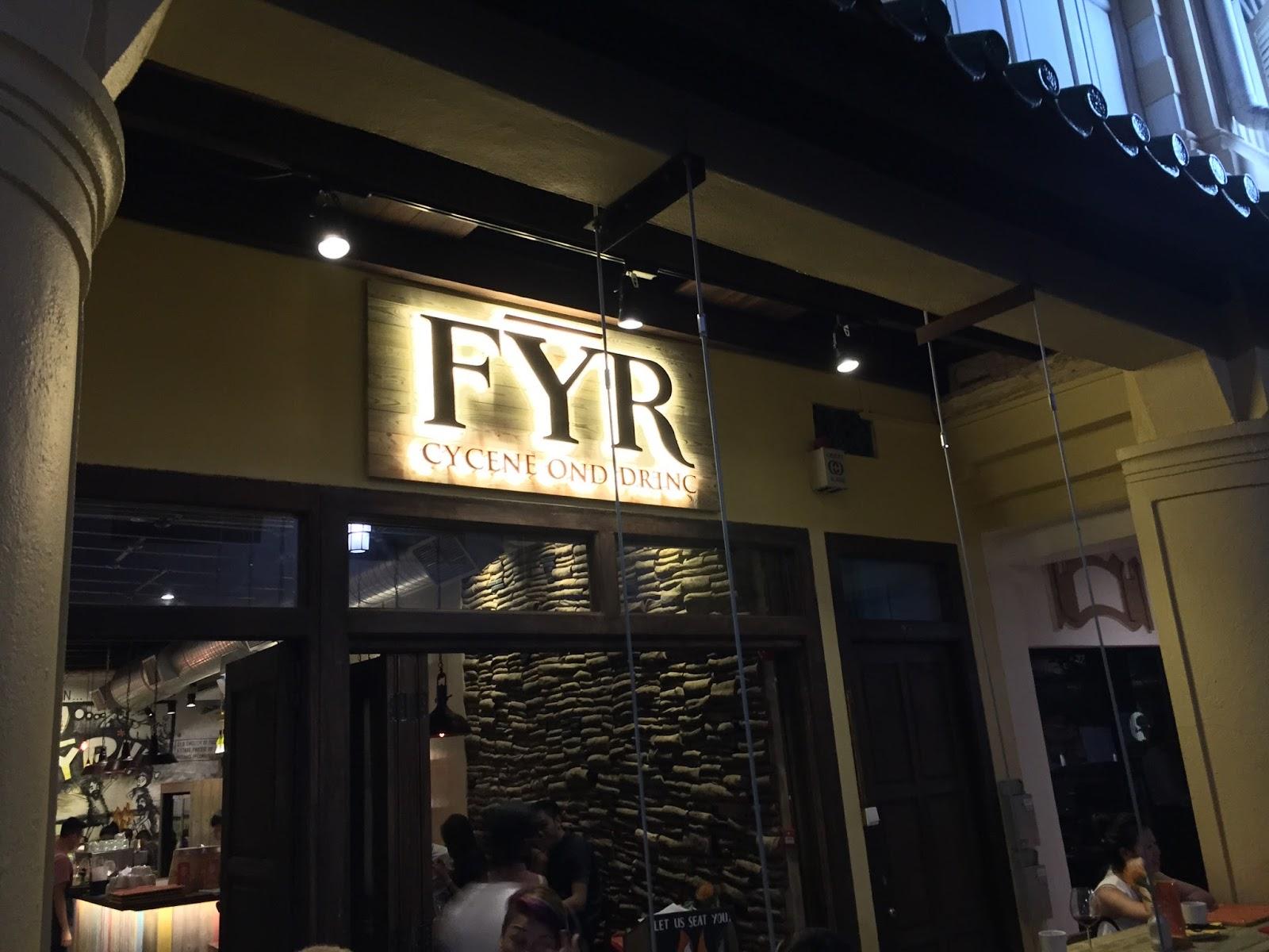 FYR Cycene Ond Drinc (Boon Tat Street)