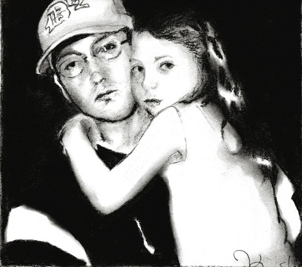 eminems daughter hailey. Eminem with daughter Hailie