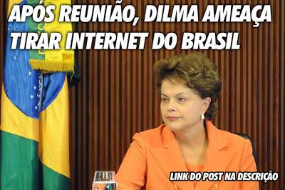 Falsa Notícia sobre a Dilma Retirar Internet - Um Asno
