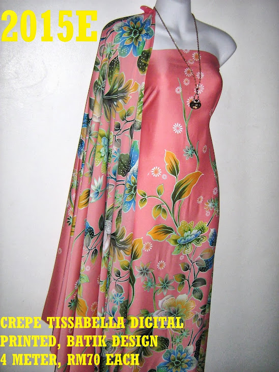 CTD 2015E: BATIK CREPE TISSABELLA DIGITAL PRINTED, EXCLUSIVE DESIGN, 4 METER