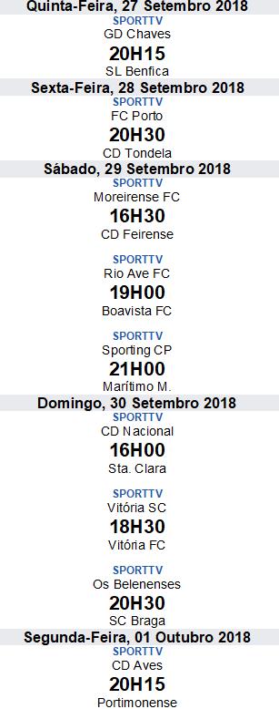 Liga Nós 2018-2019 6ºJornada