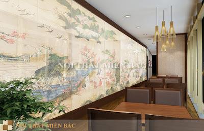 Thiết kế nội thất nhà hàng Nhật Bản cao cấp, sang trọng3