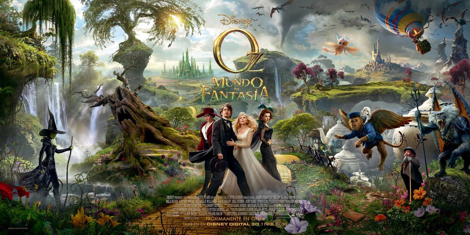 """Cine en C.C. Valdebernardo: """"Oz, el mundo de fantasía"""" Sábado 5.04 12 h."""