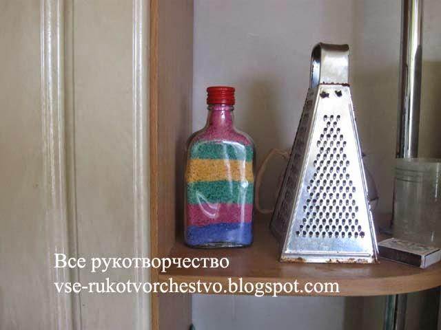 Бутылка - украшение для кухни своими руками