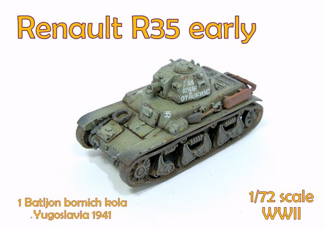 First To Fight 1//72 Renault R-35 Early Version # 078