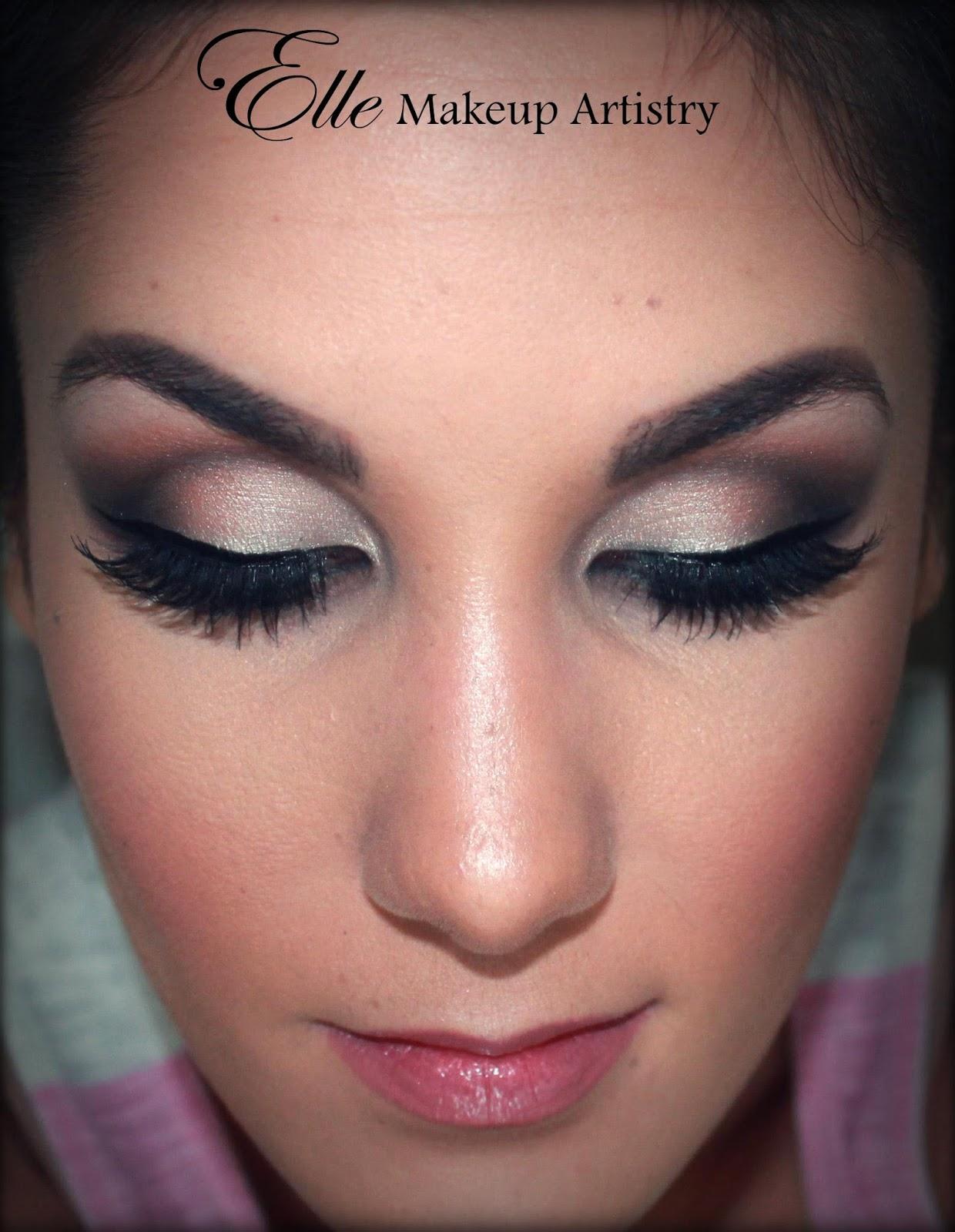 Bridal Eyes Makeup Smokey eyes, airbrushed face,