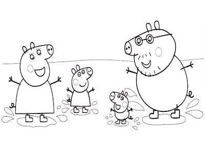 Peppa Pig Cartoon Coloring Pages For Kids