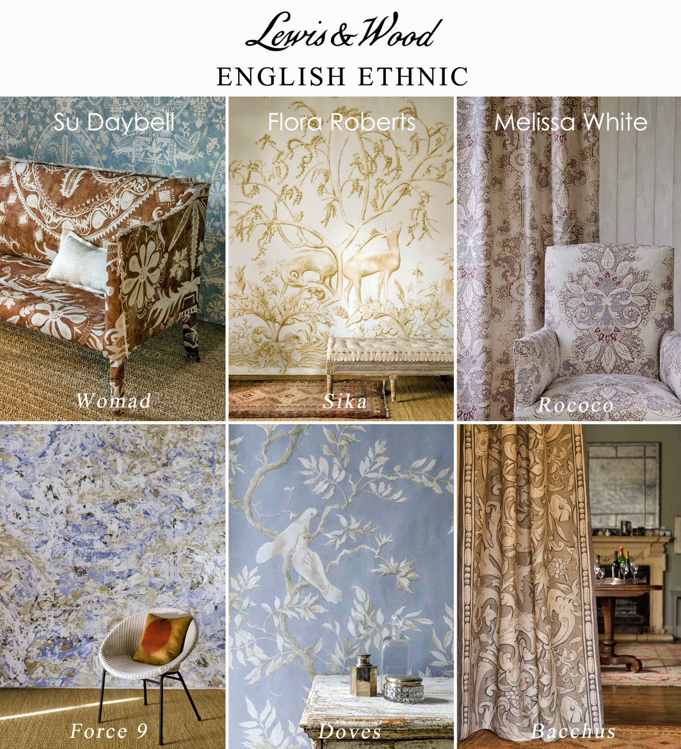 English Ethnic all 6 designs