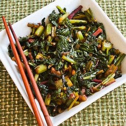 Recipe for Spicy Asian Stir-Fried Swiss Chard | Kalyn's Kitchen®