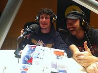 Luis Resines y David Finch, dibujante y guionista del Cómic Expedición Malaspina