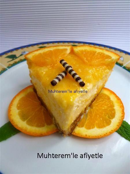 Portakallı Cheesecake