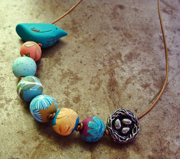 humblebeads birds blooms knotted necklace tutorial