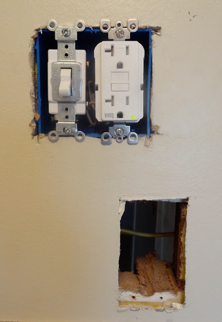 Best Electrical Box For Vanity Light : DIY // How To Install or Replace a Bathroom Vanity Light Revamp Homegoods