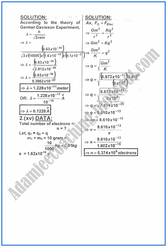 Physics-Numericals-Solve-2010-past-year-paper-class-XII