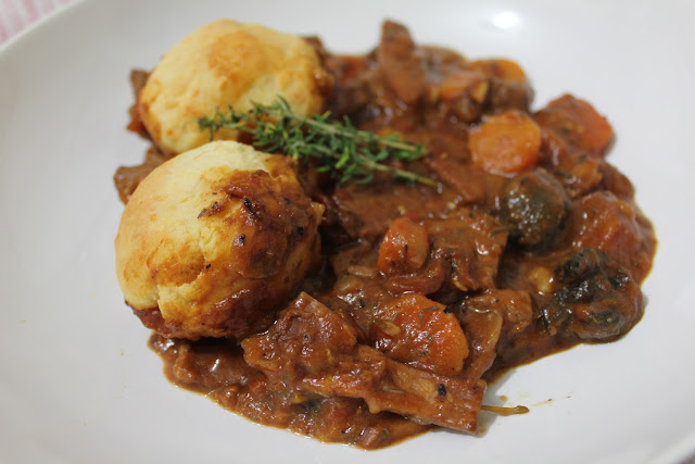 Beef and Bacon Casserole with Cheese Dumplings - A Dash Of Flavour ...