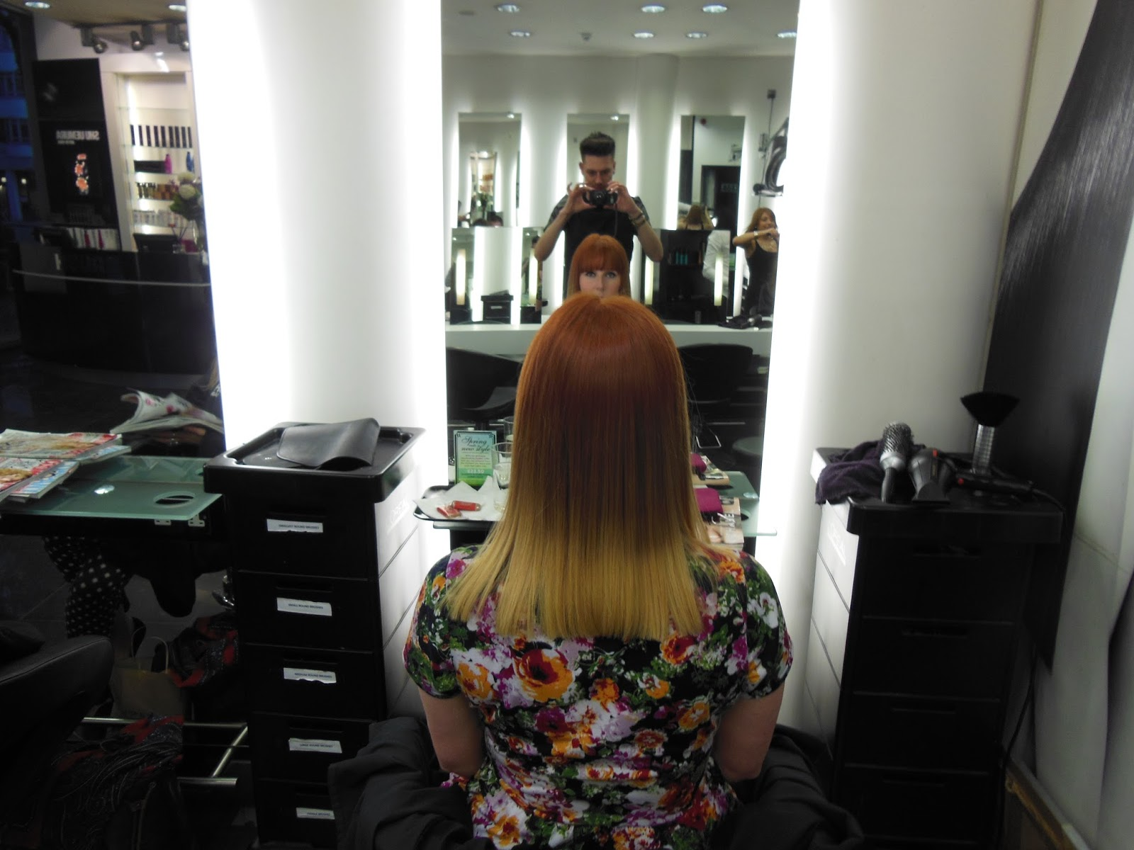My finished hair cut at rush tottenham court road
