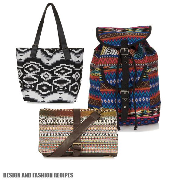 Aztechi style handbag by Asos SS2013 on Design and fashion recipes