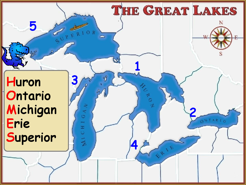Us Map With Labeled Great Lakes Vernonstreetreview - Great lakes labeled map