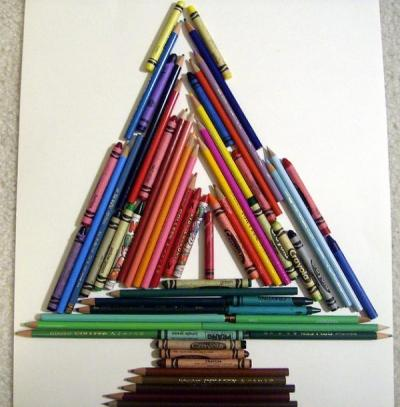 bizarre christmas tree mountain dew, pencils