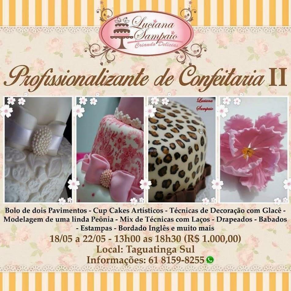 CURSO DE CONFEITARIA PROFISSIONALIZANTE II