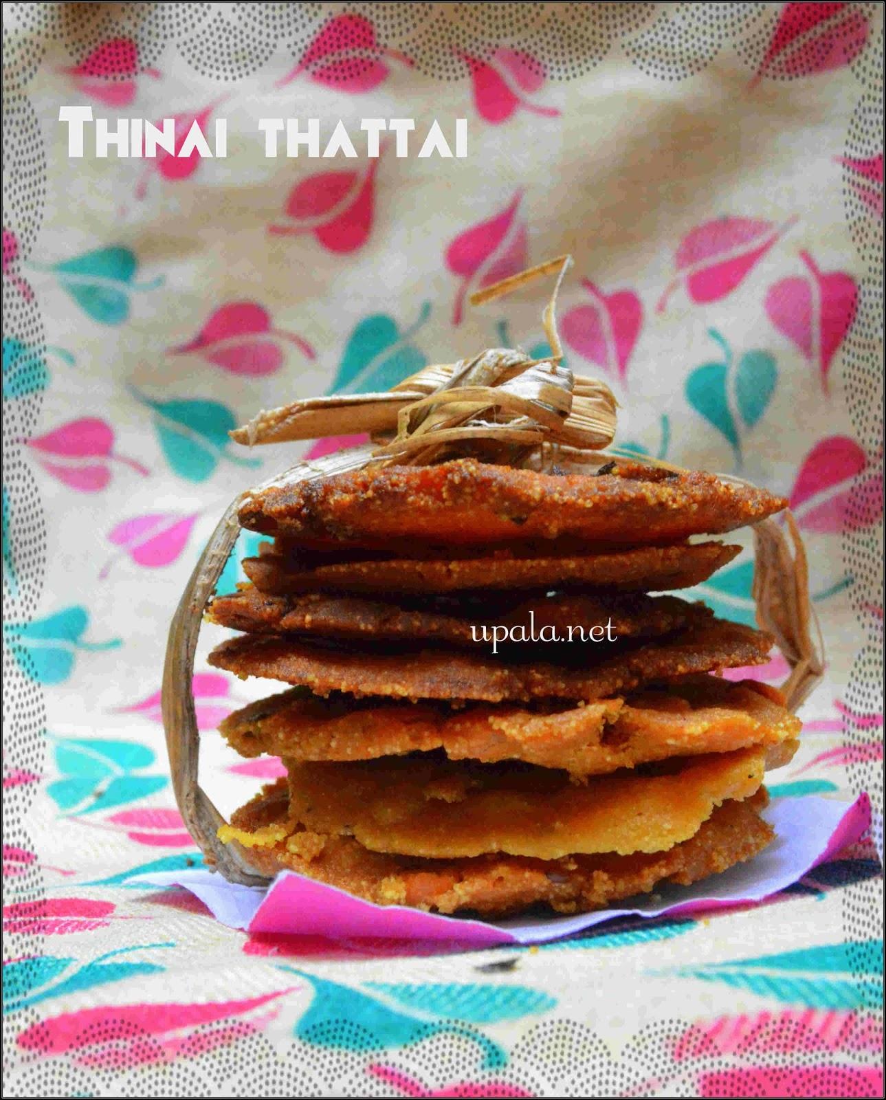 Thinai thattai/foxtail millet thattai/nippattu