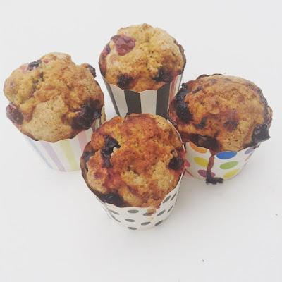 muffins graines de pavot cassis