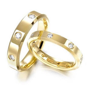 Gold diamond ring by