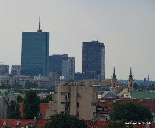 widok panorama Warszawa Intraco