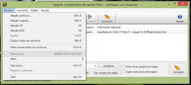 Switch Sound File Converter Versión 4.37 Español 2013