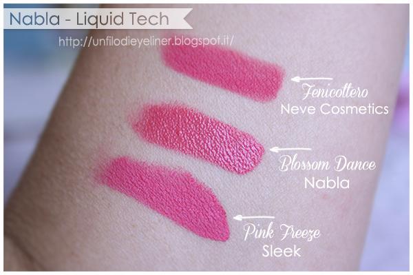 Swatch: Nabla - Liquid Tech Blossom Dance - Fenicottero - Pink Freeze