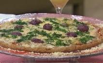 Pizza de massa de biscoito
