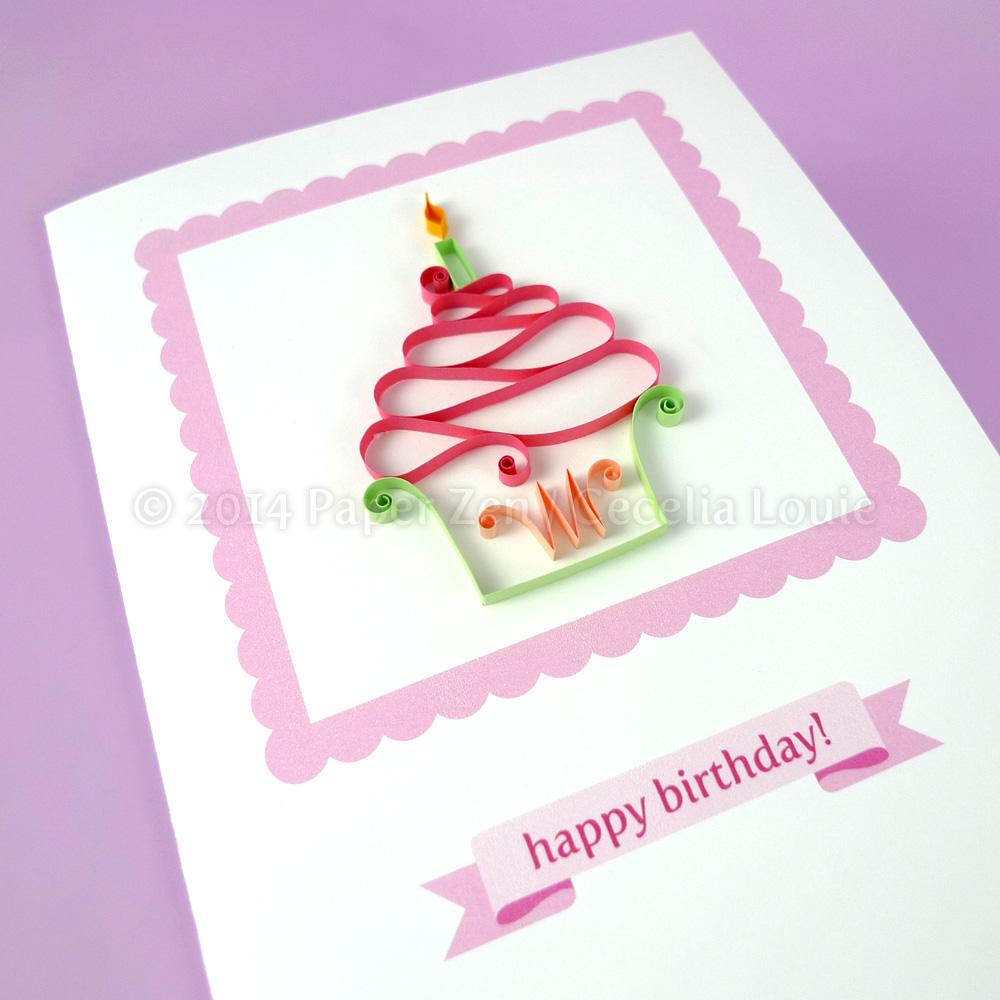Cake Designs On Paper : Paper Zen: Quilling Cupcakes - PDF Pattern / Tutorial