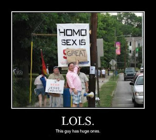 homo sex is great funny protest