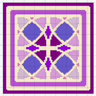 biscornu pincushion free cross stitch pattern