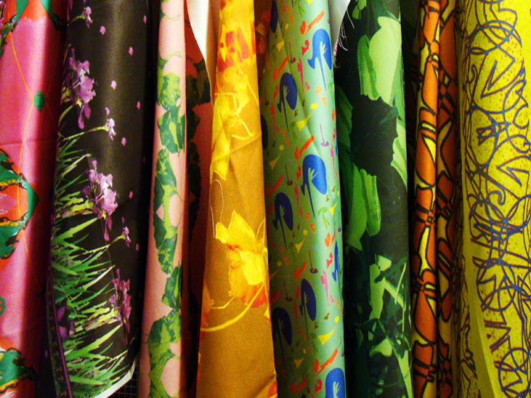 designs in a variety of cotton, silk, linen fabrics.
