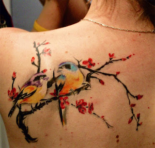 Watercolor Birds Tattoo