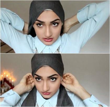 Tutorial Hijab Turban Simple Tampil Cantik Tanpa Jarum 1