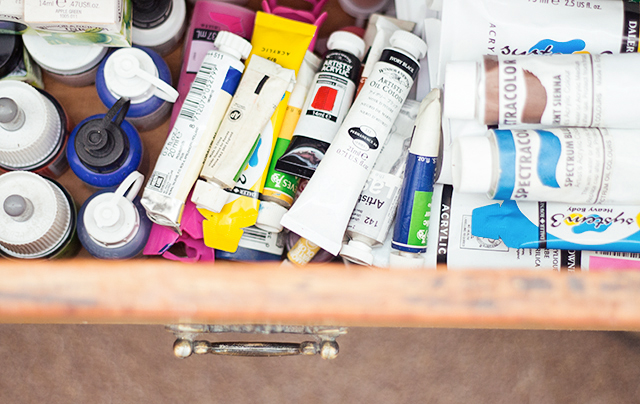 art supplies - paints and inks
