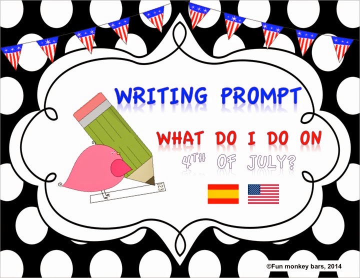 http://www.teacherspayteachers.com/Product/4-de-julio-4th-of-July-Writing-prompt-1302007