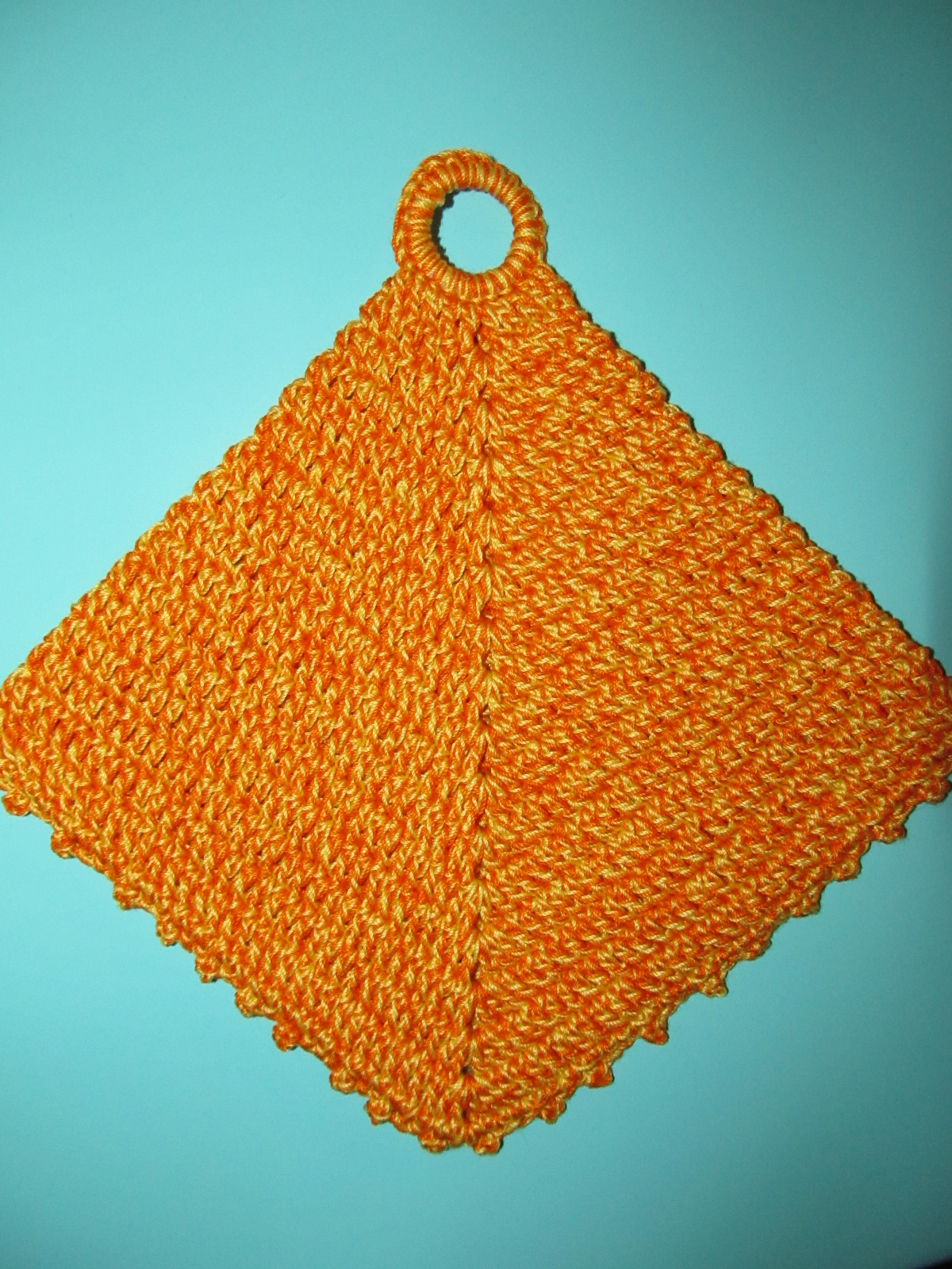 Simply Crochet and Other Crafts: Double-Sided Diagonal Pot Holder