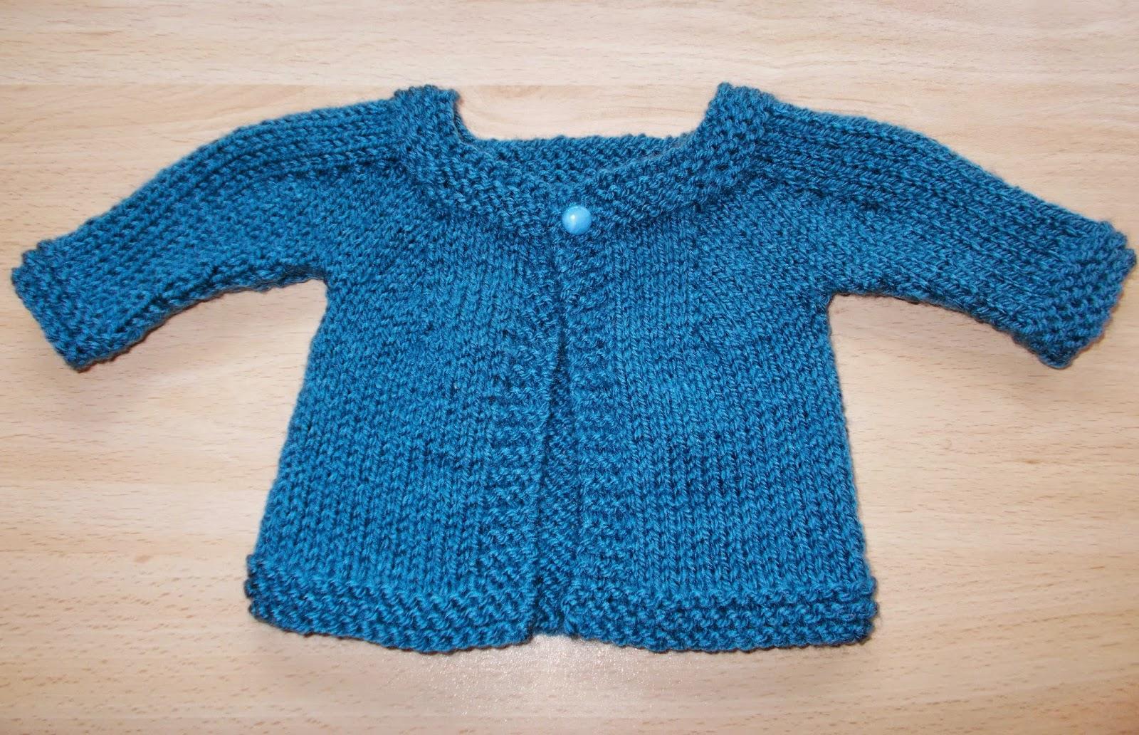 Knitting Pattern Baby Boy Jacket : mariannas lazy daisy days: Denim Blue Baby Cardigan Jacket - Boy or Girl