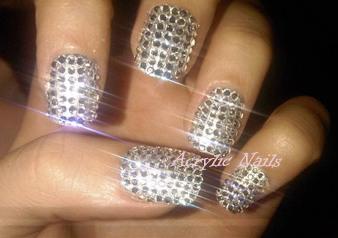acrylic nails with stylish nail