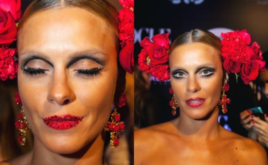 A beleza das celebridades no baile de Carnaval