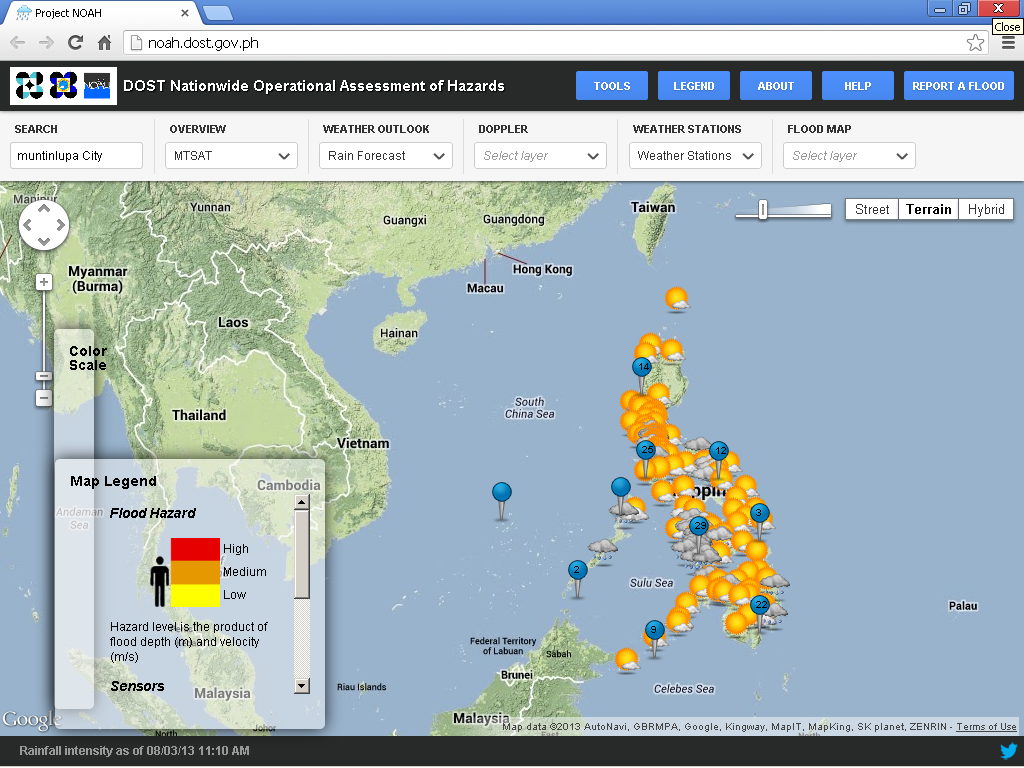 project noah Nababahacom flood maps have evolved into higher resolution hazard maps which are now produced by dost project noah under dost ao 003 series of 2015 on the adoption of the department of science and technology data sharing policy, the maps of project noah are disseminated here for the public interest.