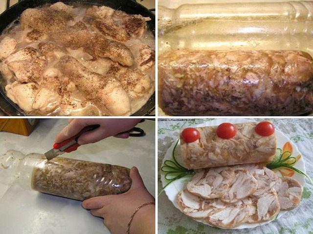 Приготовление в домашних условиях куриного рулета в