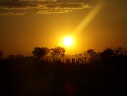 Pôr-do-sol na Fraternidade Espiritualista Arcanjo Yramael