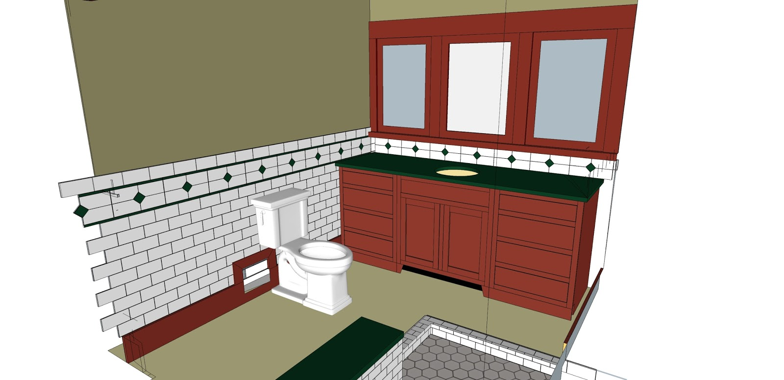 Laurelhurst craftsman bungalow latest bathroom sketchup files for Sketchup bathroom sink