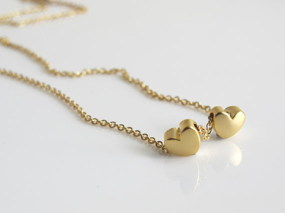 Two Heart Pendant Necklace